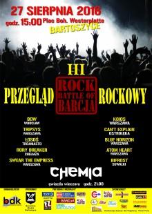 """Ogólnopolski Festiwal Rockowy """"Rock Battle of Barcja"""" @ Plac Bohaterów Westerplatte"""